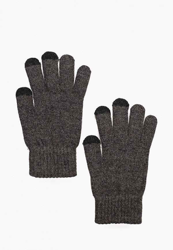 мужские перчатки mango man, серые