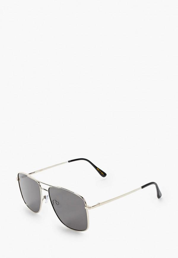 мужские солнцезащитные очки mango man, серебряные