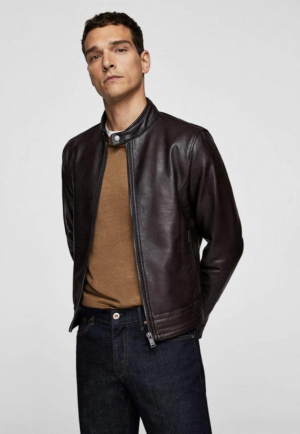 Купить Куртка кожаная Mango Man, - GUZ, HE002EMBUGX7, коричневый, Осень-зима 2018/2019