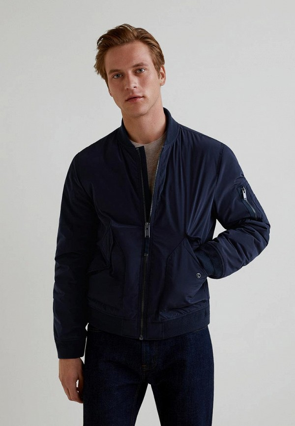 Купить Куртка утепленная Mango Man, - TOKIO, HE002EMCFMC1, синий, Осень-зима 2018/2019