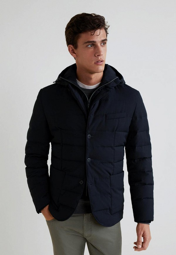 Куртка утепленная Mango Man, - VATHIS, HE002EMCFMD0, синий, Осень-зима 2018/2019  - купить со скидкой