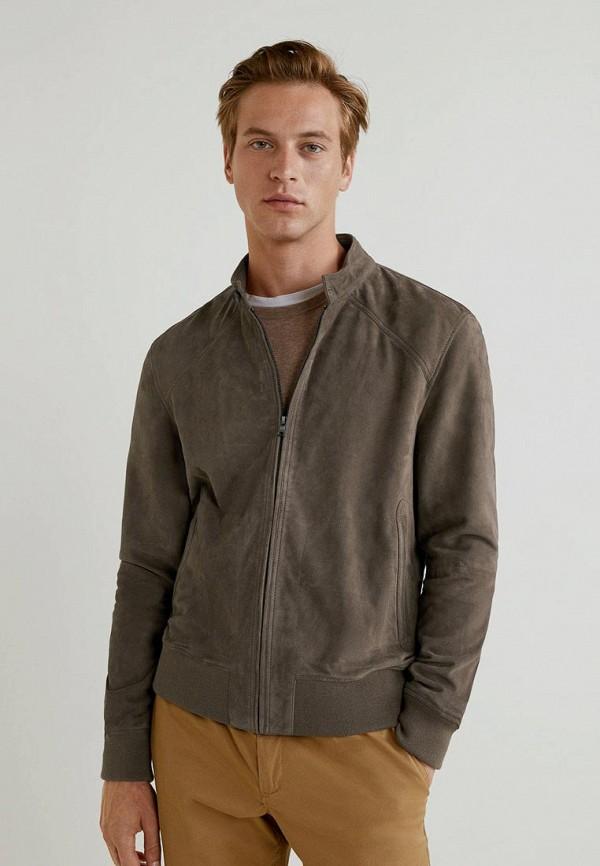 Купить Куртка кожаная Mango Man, - HEN, HE002EMCGJC2, коричневый, Осень-зима 2018/2019