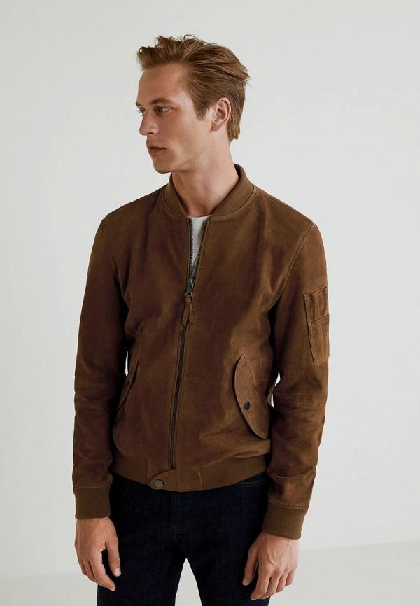Куртка кожаная Mango Man Mango Man HE002EMCGJX2 куртка mango man mango man he002emxjr83