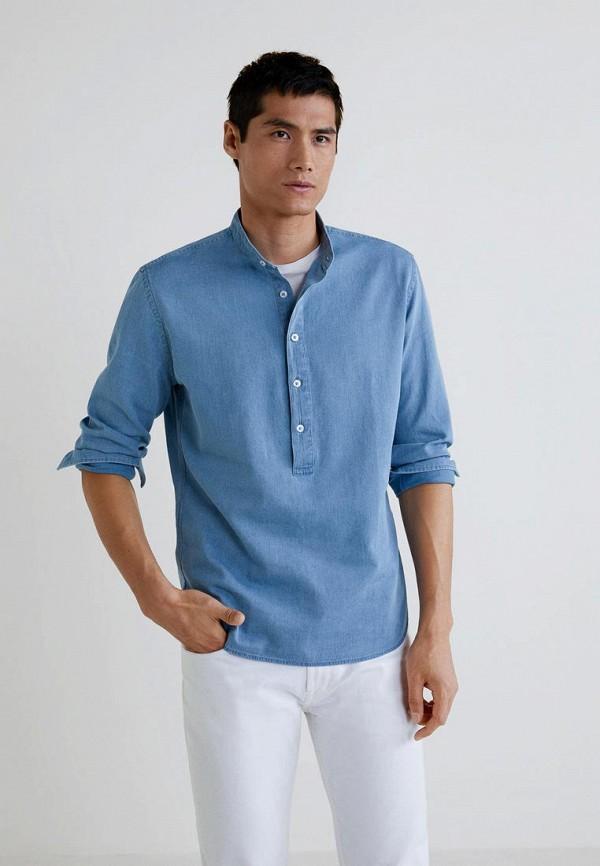 Купить Рубашка джинсовая Mango Man, - PAUL3, HE002EMCODB4, голубой, Осень-зима 2018/2019