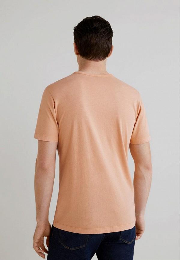 Фото 3 - мужскую футболку Mango Man оранжевого цвета