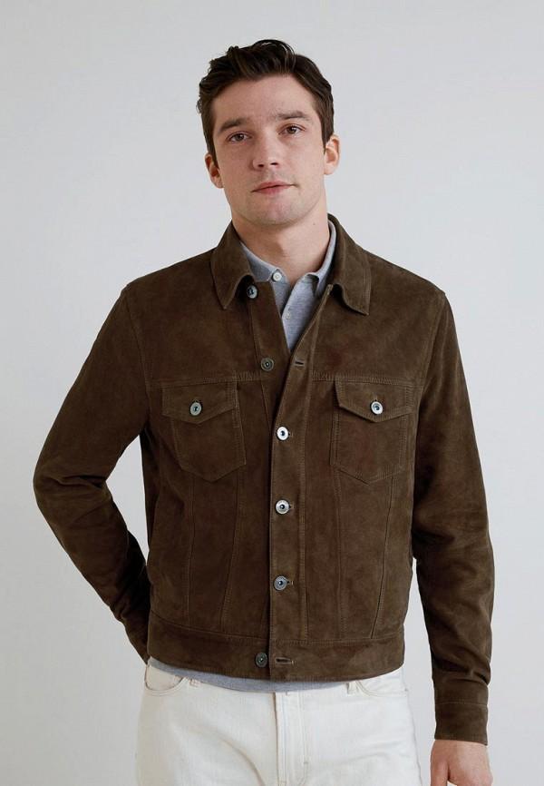 Купить Куртка кожаная Mango Man, - TEJA, he002emeqqn2, коричневый, Весна-лето 2019