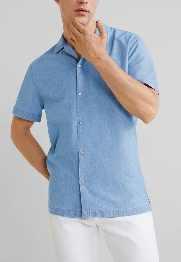 Фото - мужскую рубашку Mango Man голубого цвета