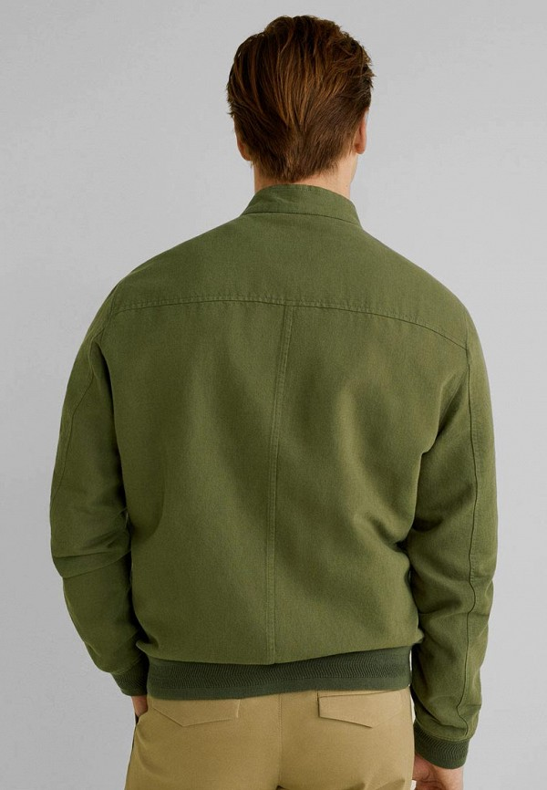 Фото 3 - мужскую куртку Mango Man цвета хаки