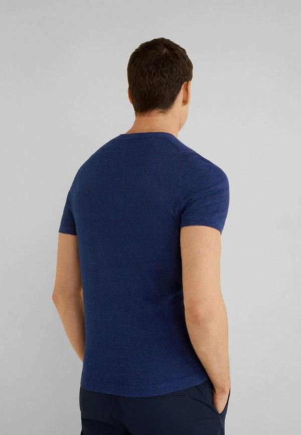 Фото 3 - мужское джемпер Mango Man синего цвета