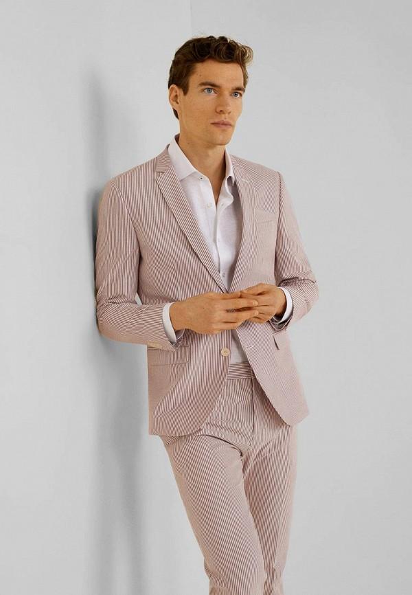 мужской пиджак mango man, розовый