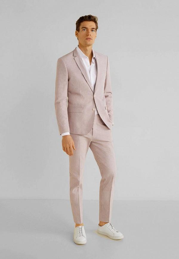 Фото 2 - мужской пиджак Mango Man розового цвета