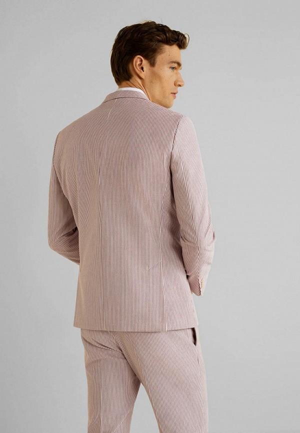 Фото 3 - мужской пиджак Mango Man розового цвета