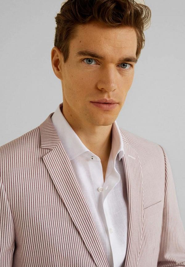 Фото 4 - мужской пиджак Mango Man розового цвета