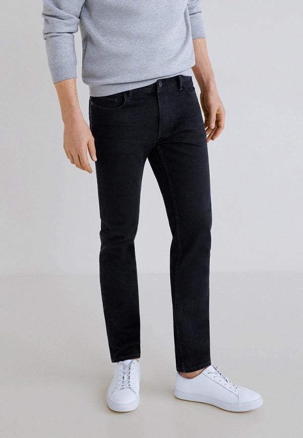 мужские зауженные джинсы mango man, черные