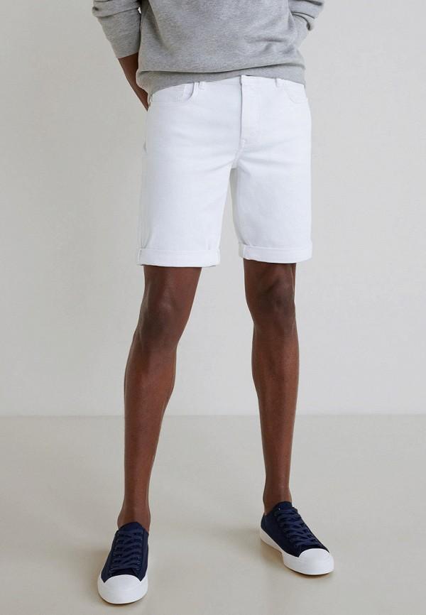 мужские повседневные шорты mango man, белые