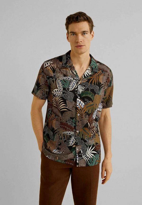 мужская рубашка с коротким рукавом mango man, разноцветная