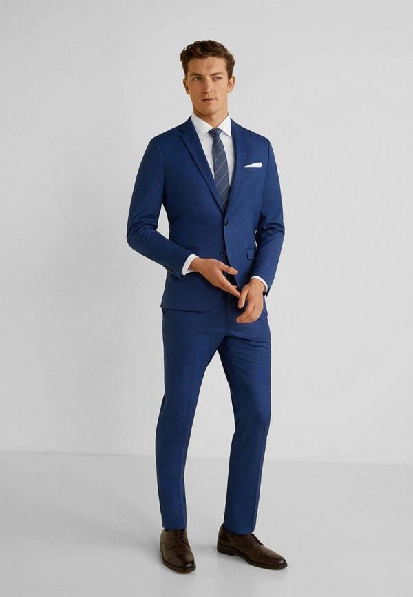 Фото - мужской пиджак Mango Man синего цвета