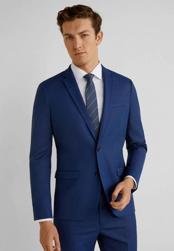Фото 2 - мужской пиджак Mango Man синего цвета