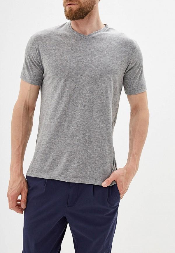 Купить мужскую футболку Mango Man серого цвета