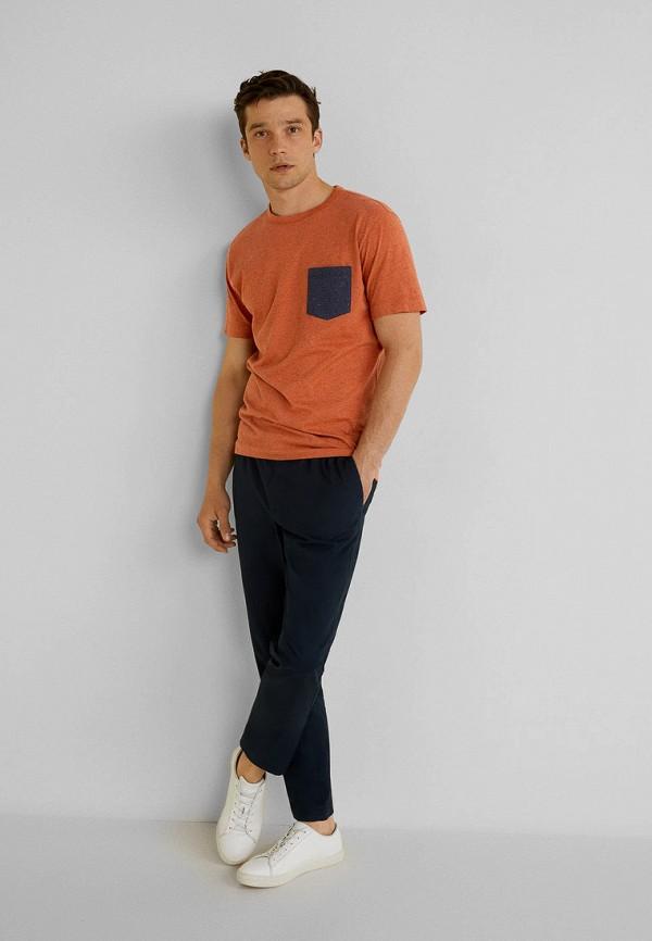 Фото 2 - мужскую футболку Mango Man оранжевого цвета