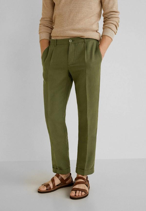 мужские повседневные брюки mango man, зеленые