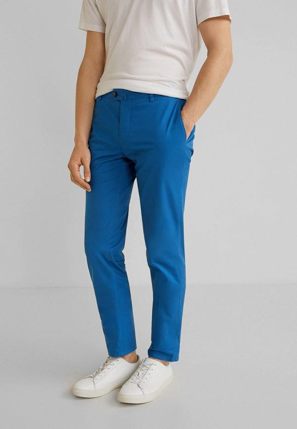 Купить мужские брюки Mango Man синего цвета