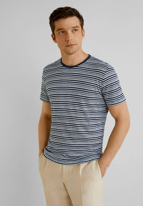 Фото - мужскую футболку Mango Man синего цвета
