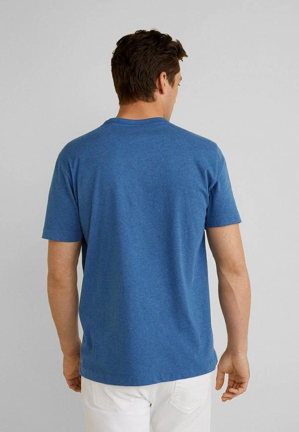 Фото 3 - мужскую футболку Mango Man синего цвета