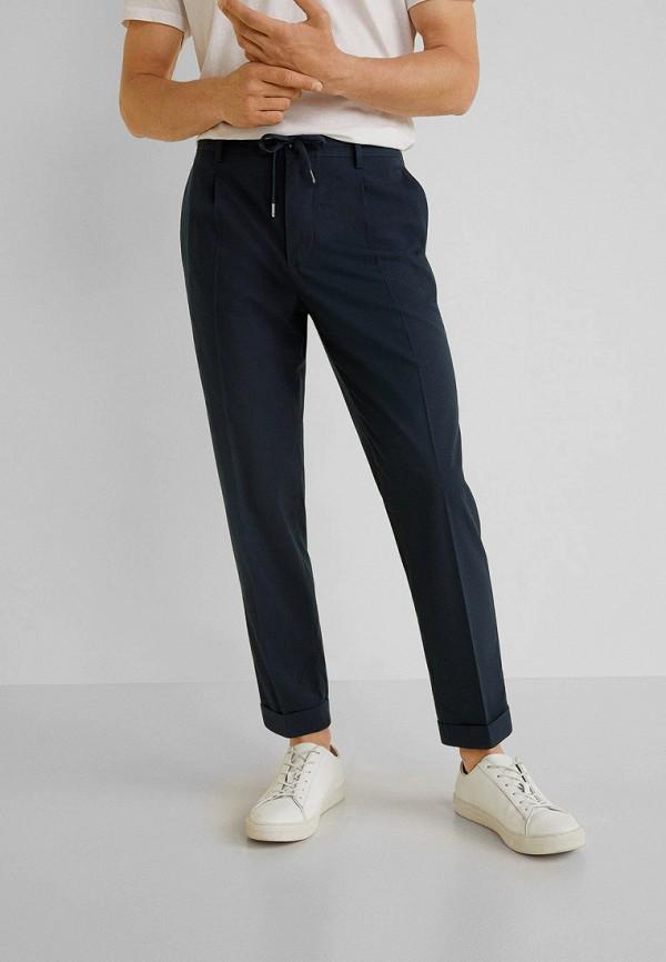 мужские брюки mango man, синие