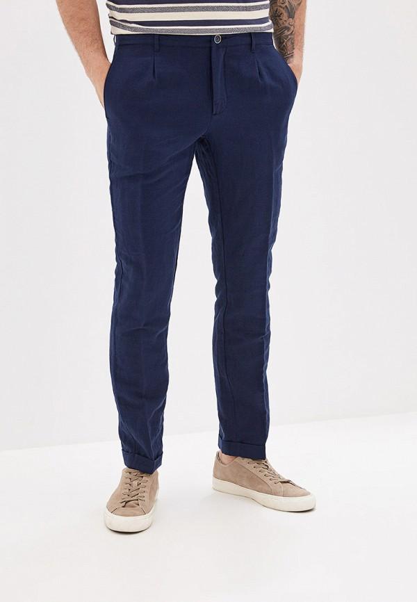 мужские зауженные брюки mango man, синие