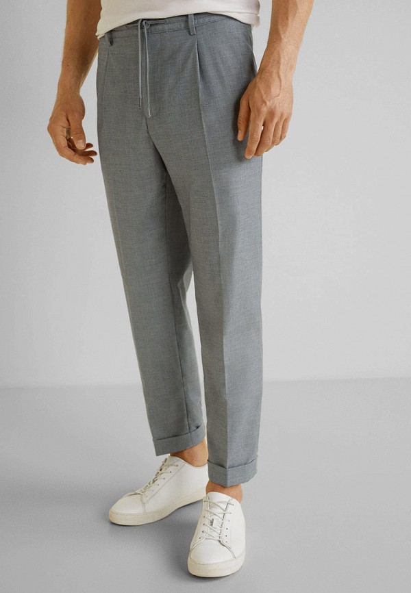 Купить мужские брюки Mango Man серого цвета
