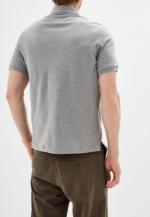 Фото 3 - мужское поло Mango Man серого цвета