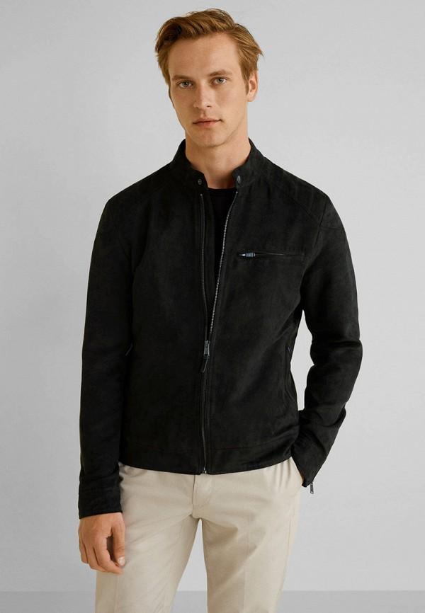 Купить мужскую куртку Mango Man черного цвета