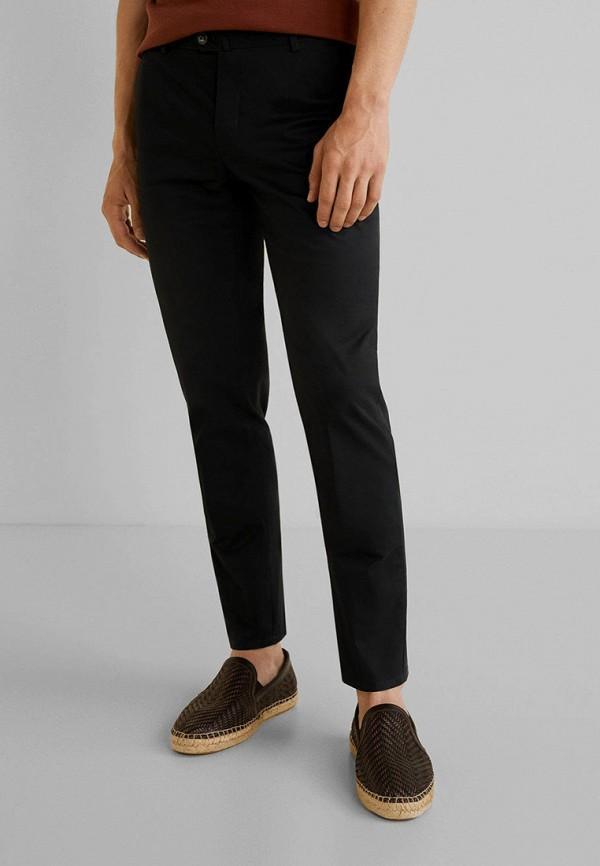 мужские зауженные брюки mango man, черные