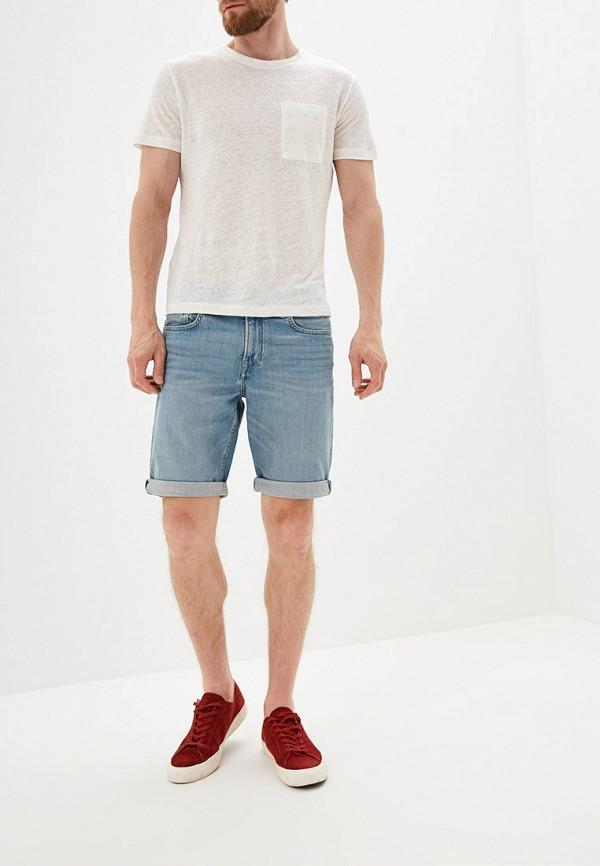 Фото 2 - Шорты джинсовые Mango Man голубого цвета