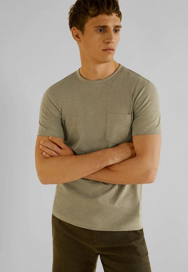 Фото - мужскую футболку Mango Man зеленого цвета