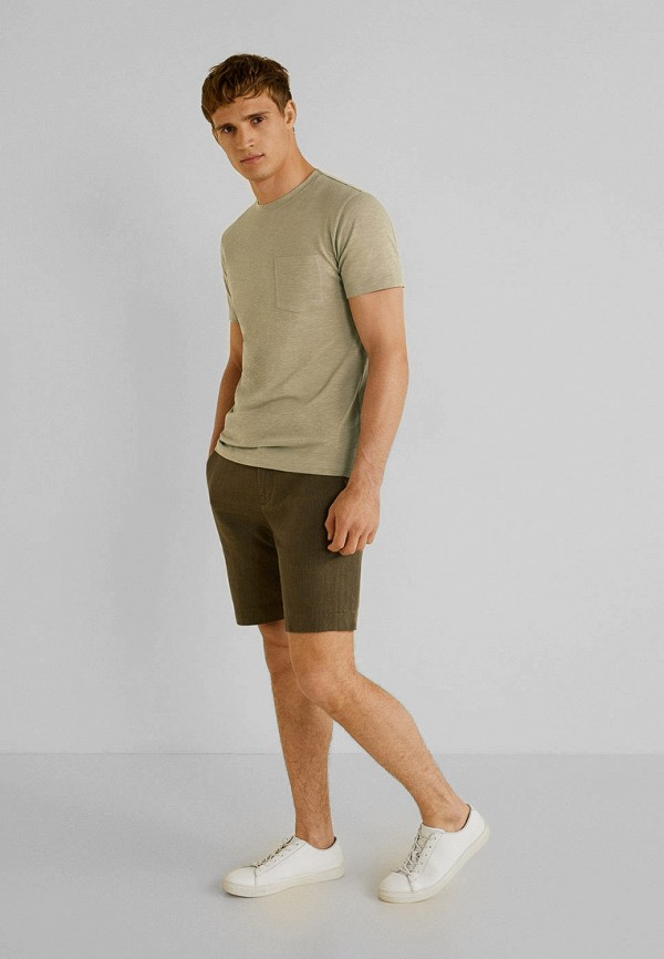 Фото 2 - мужскую футболку Mango Man зеленого цвета