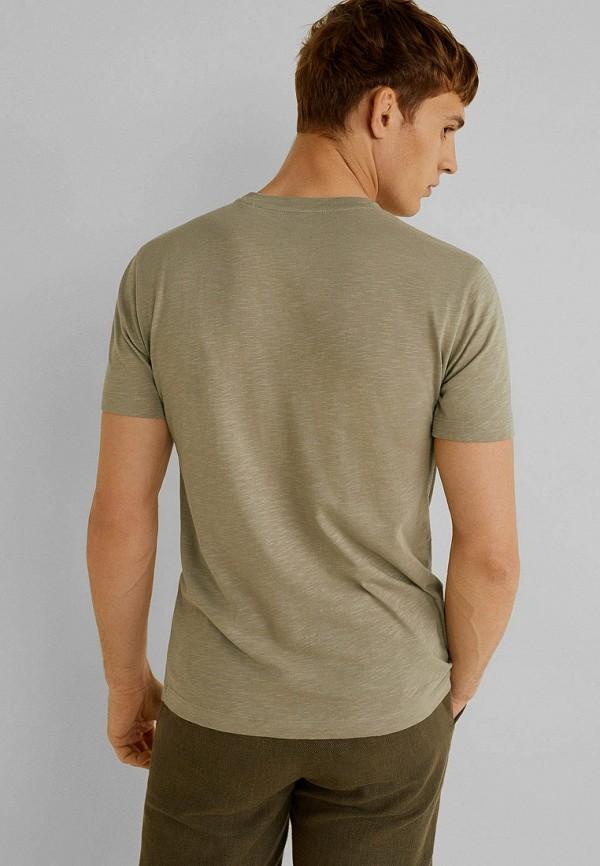 Фото 3 - мужскую футболку Mango Man зеленого цвета