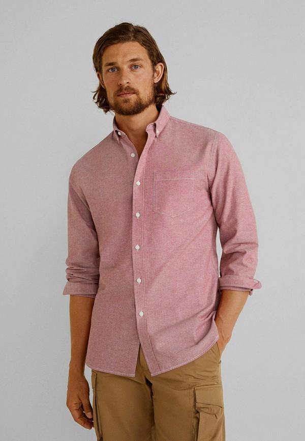 Фото - мужскую рубашку Mango Man розового цвета