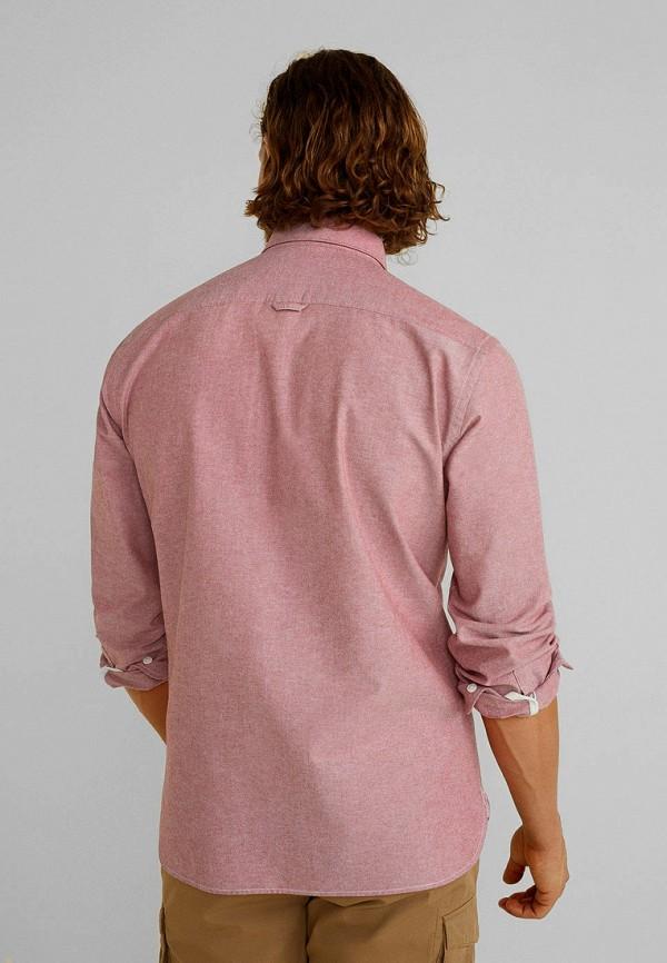 Фото 3 - мужскую рубашку Mango Man розового цвета