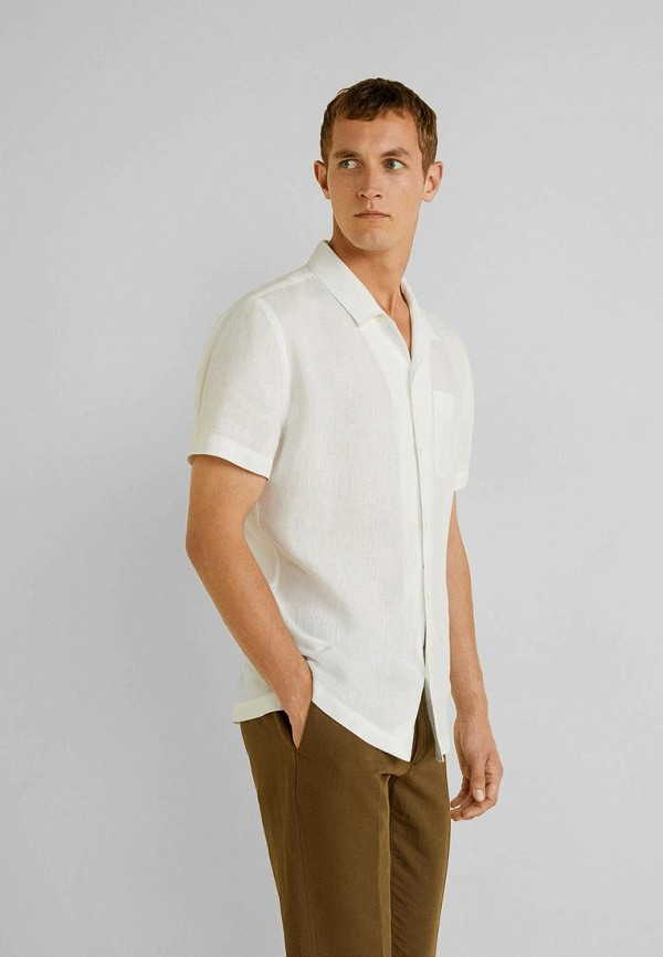 мужская рубашка mango man, белая