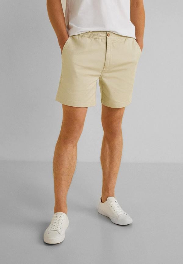 мужские шорты mango man, бежевые