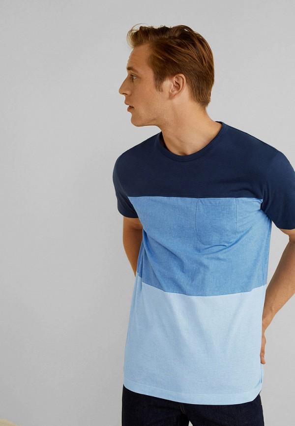 мужская футболка mango man, синяя