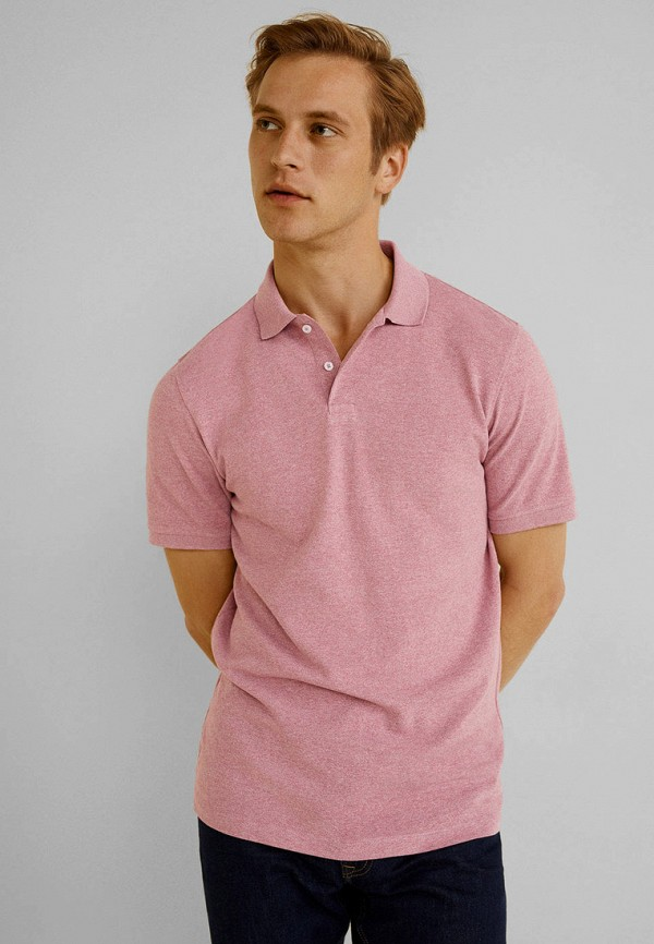 мужское поло mango man, розовое