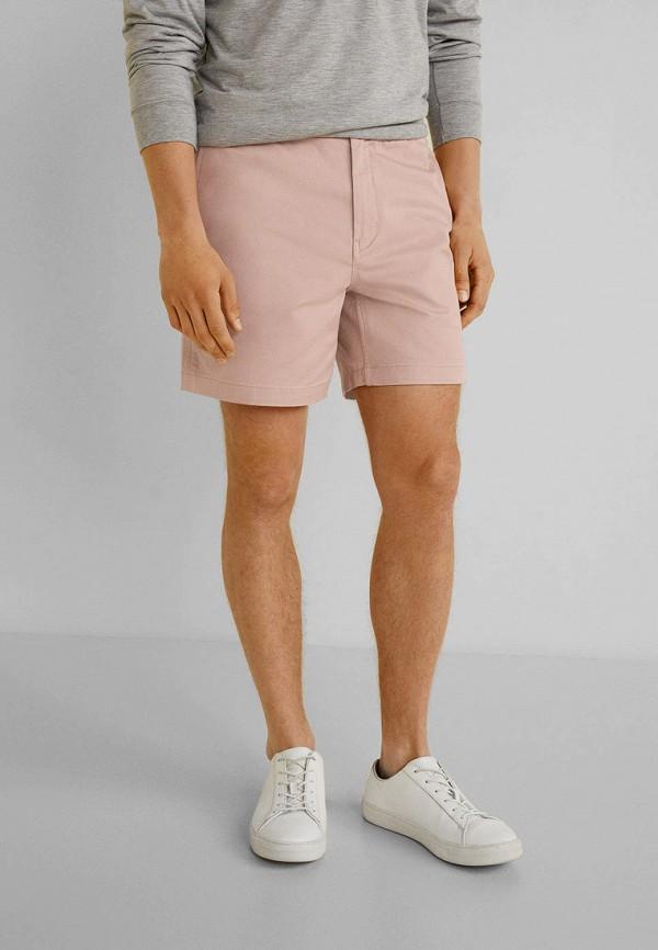 мужские шорты mango man, розовые