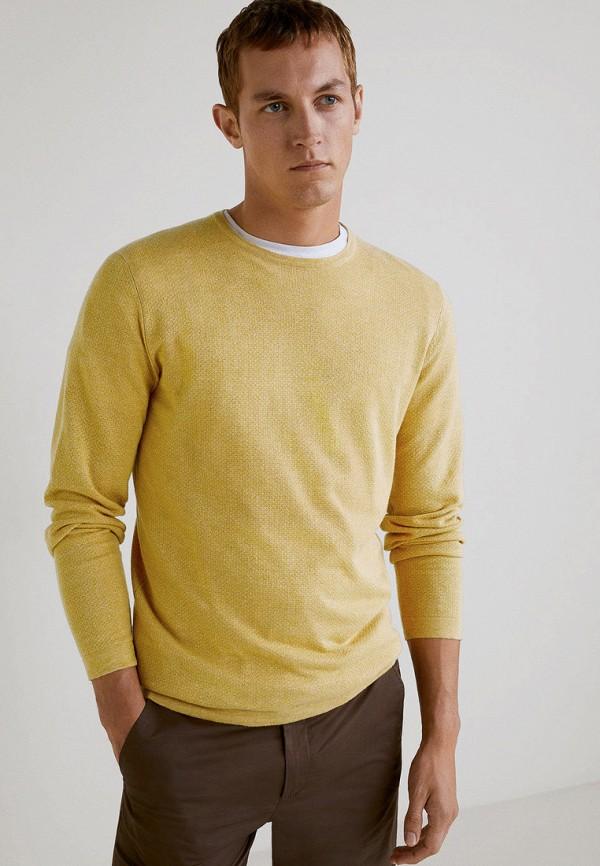 мужской джемпер mango man, желтый