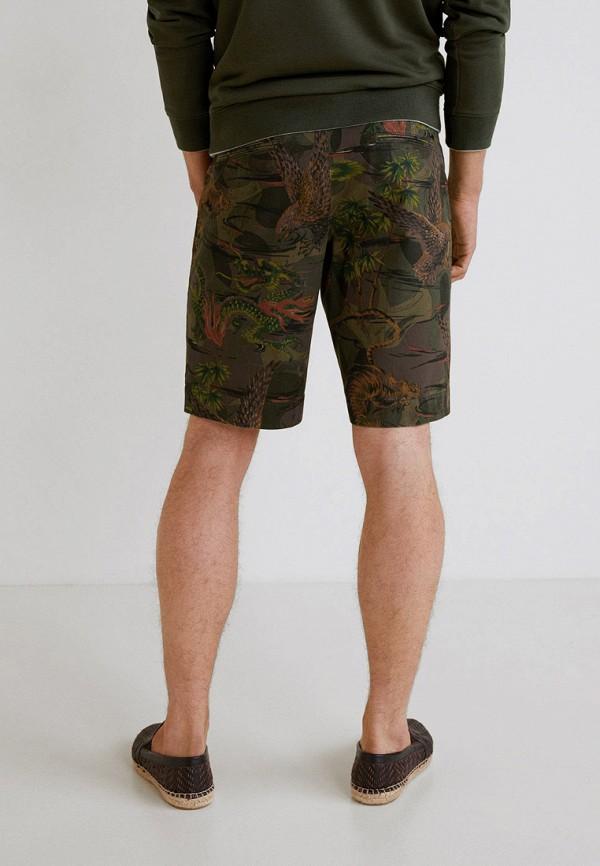 Фото 3 - мужские шорты Mango Man цвета хаки