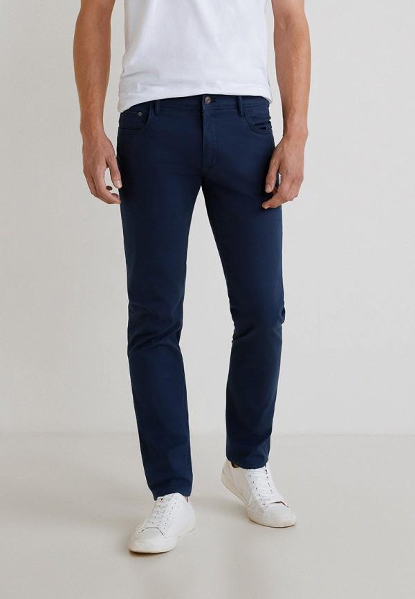 мужские повседневные брюки mango man, синие