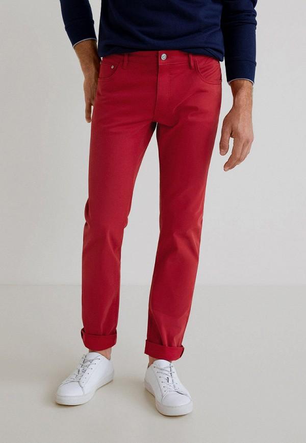 мужские повседневные брюки mango man, красные