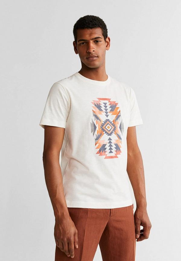 Фото - Мужскую футболку Mango Man белого цвета